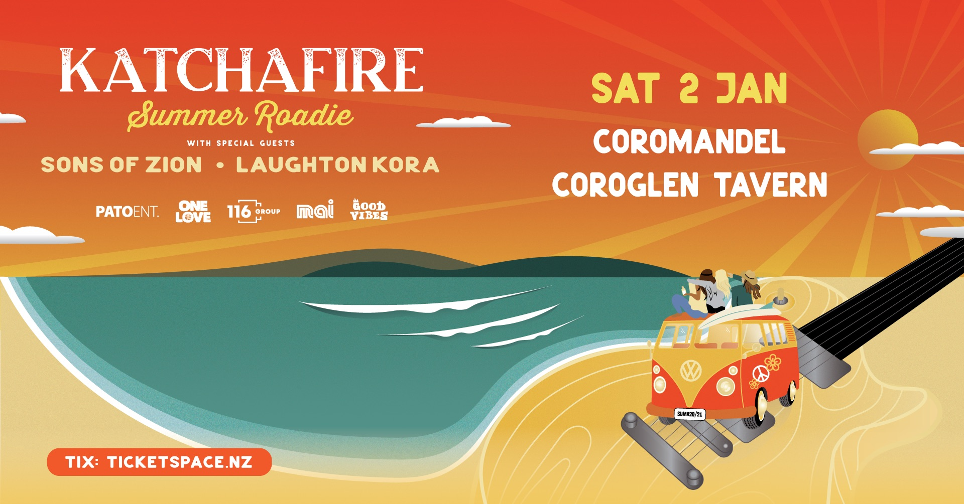 Tickets for Katchafire Summer Roadie - Coroglen in Coroglen from Ticketspace