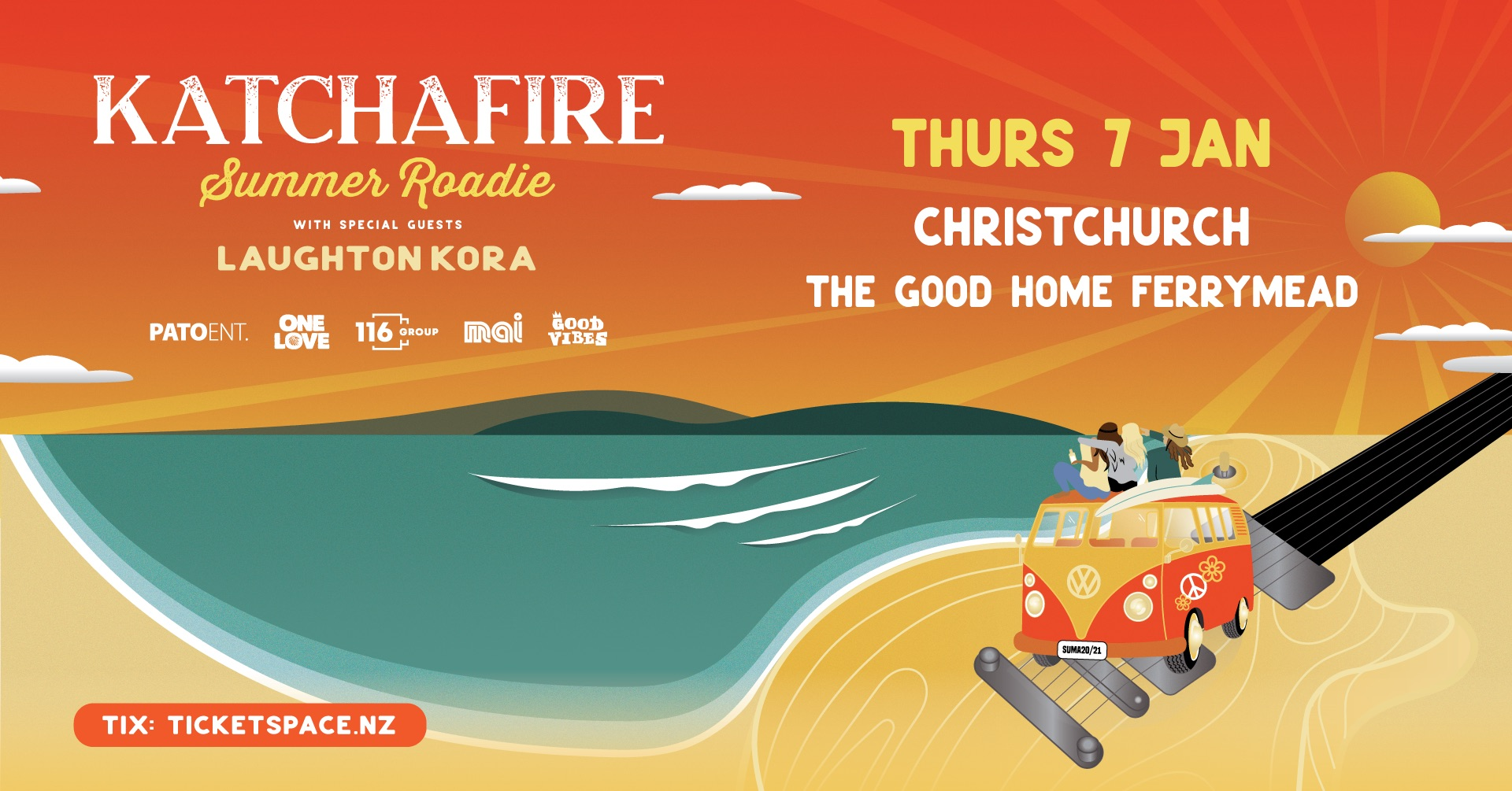 Tickets for Katchafire Summer Roadie - Christchurch in Christchurch from Ticketspace