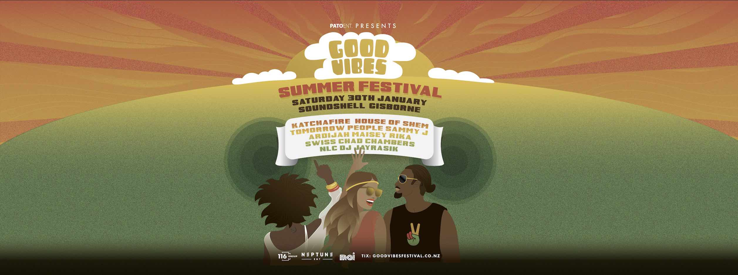 Tickets for Good Vibes Summer Festival | Gisborne in Gisborne from Ticketspace