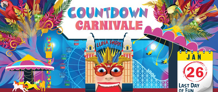 Tickets for Luna Park's Countdown Carnivale ! in Milsons Point from Big Top Sydney