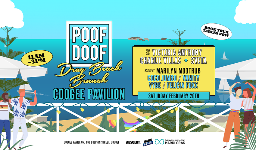 Tickets for POOF DOOF Beach Brunch in Coogee from Merivale