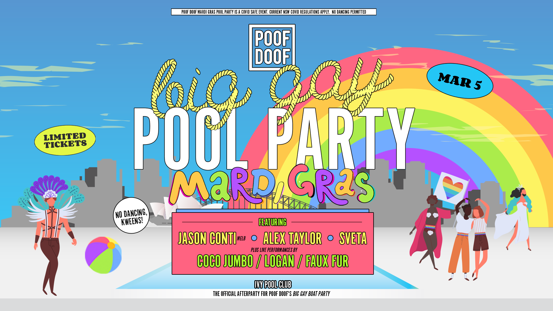 Tickets for POOF DOOF Sydney Big Gay Pool Party in Sydney from Merivale