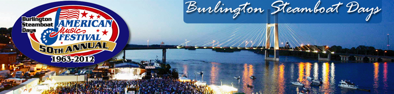 Find tickets from Burlington Steamboat Days