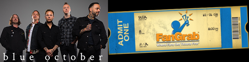 Tickets for Blue October - New Orleans, LA in New Orleans from ShowClix
