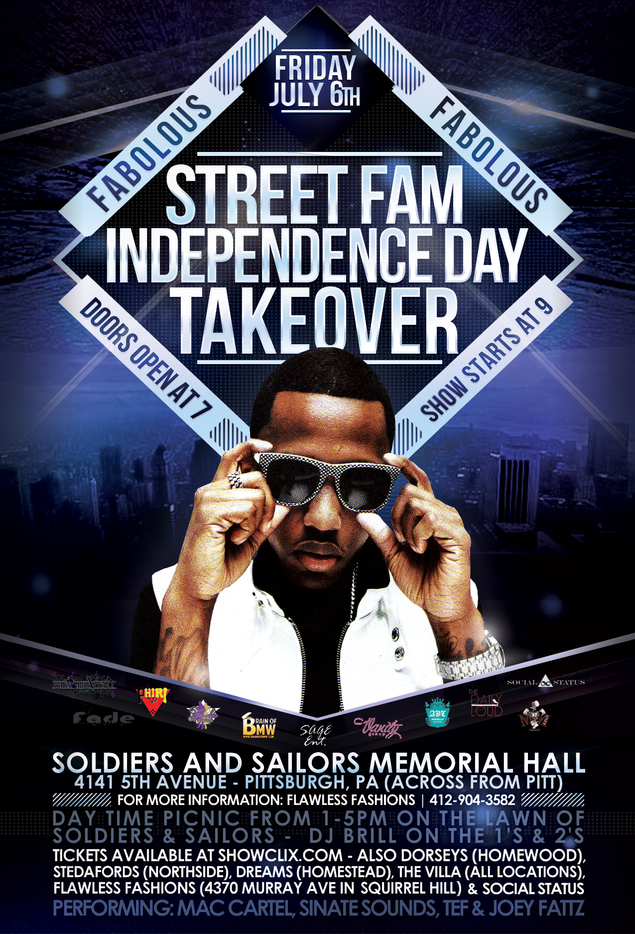 Tickets for FABOLOUS pres Street Fam  TakeOver in Pittsburgh from ShowClix