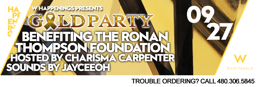 Tickets for 2nd Annual Ronan Thompson Foundation Gold Party in Scottsdale from SLE TIX