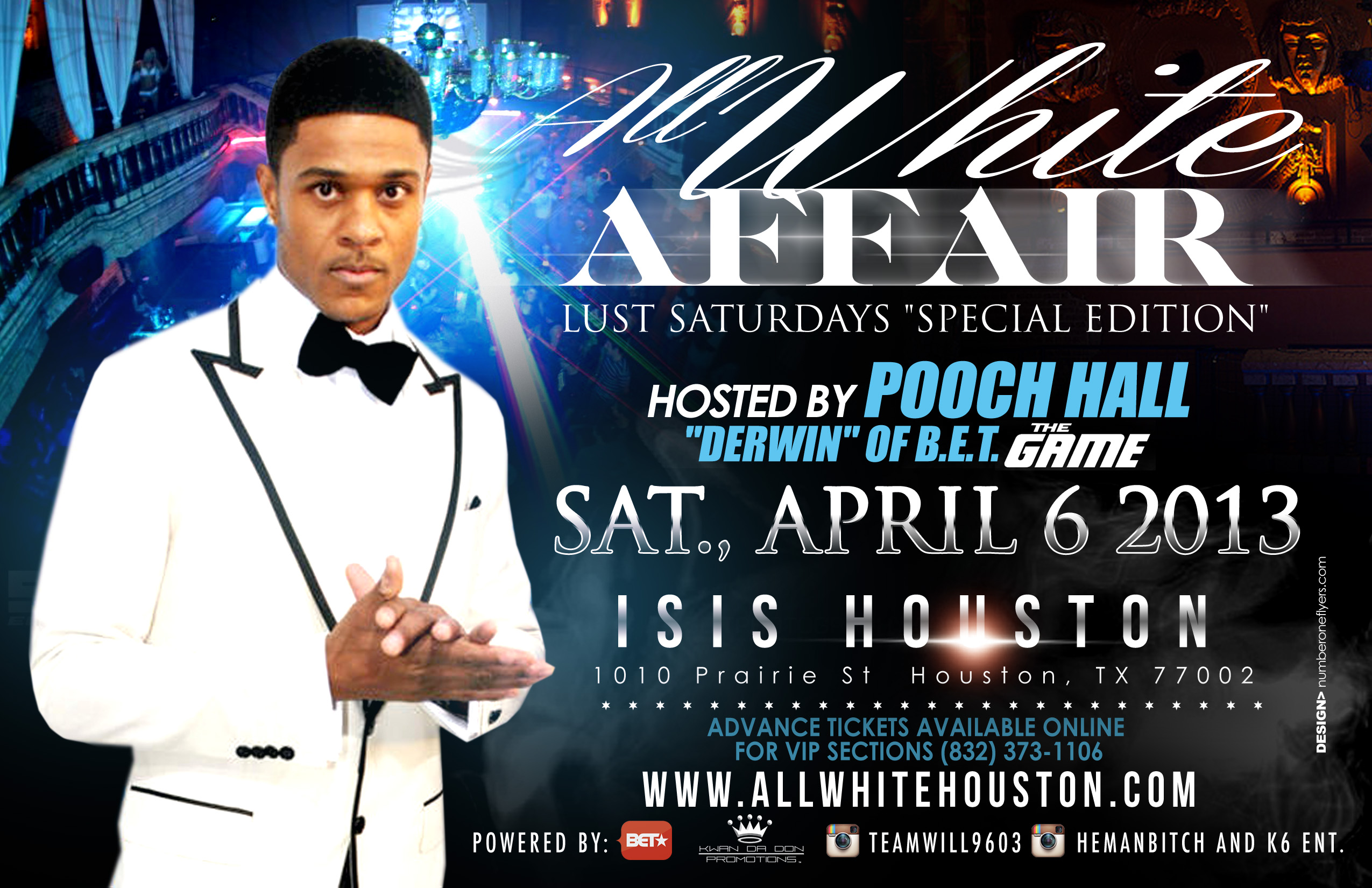 Tickets for ALL WHITE AFFAIR  W/ POOCH HALL in HOUSTON from ShowClix