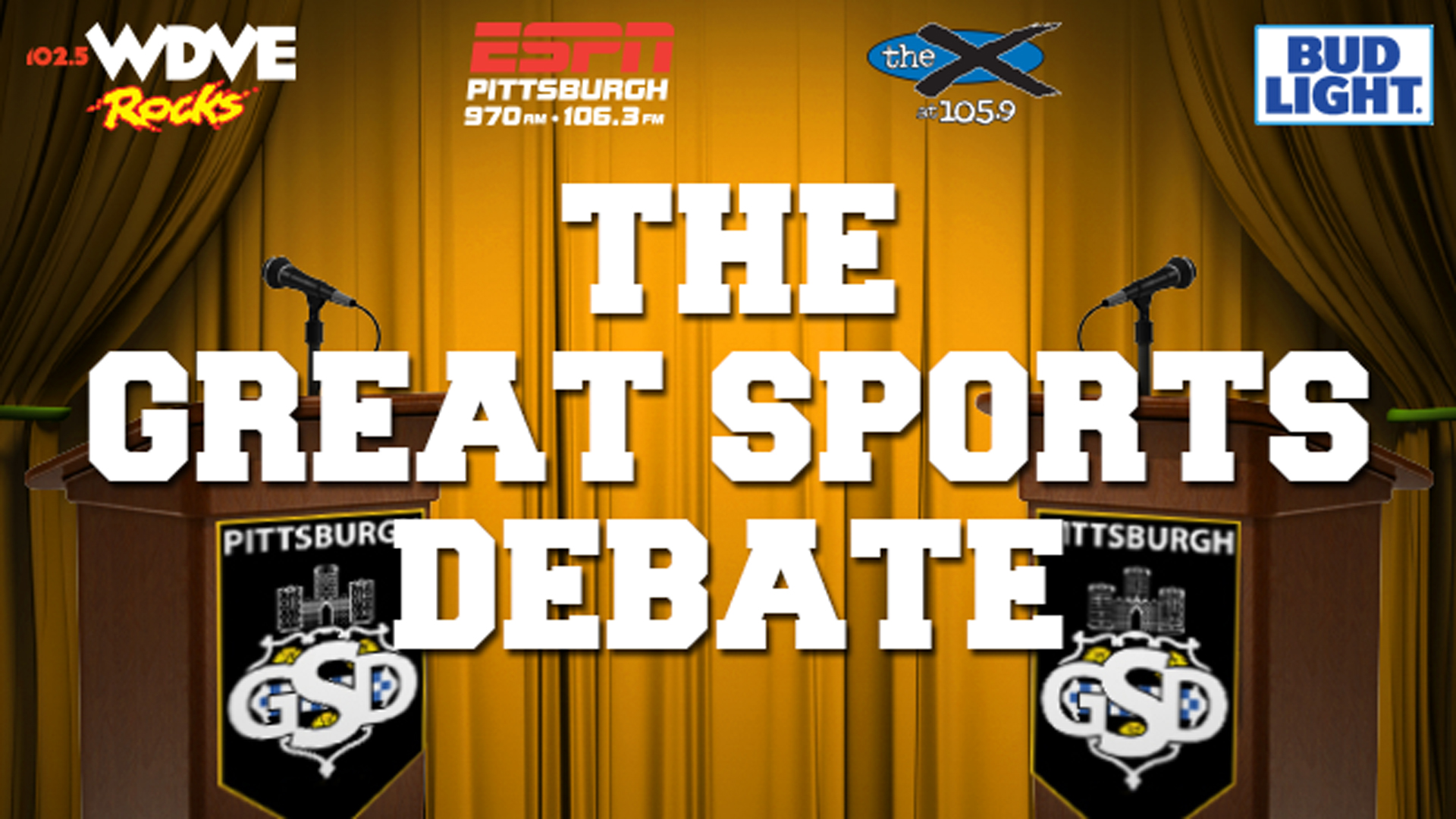 Tickets for The Pittsburgh Great Sports Debate in Pittsburgh from ShowClix