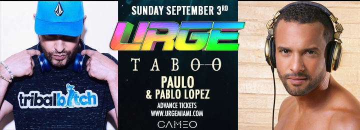 Find tickets from URGE Miami