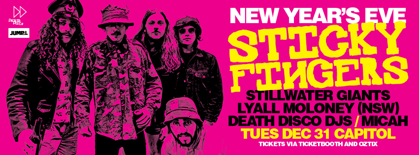 Tickets for Sticky Fingers NYE in Perth from Ticketbooth