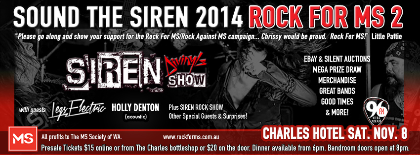 Tickets for SOUND THE SIREN - ROCK FOR MS 2 in North Perth from Ticketbooth